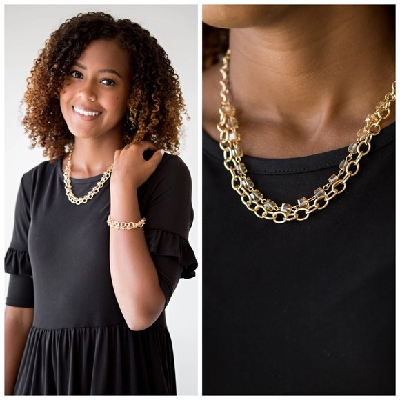 Block Party Princess Gold Chain & Bead Necklace